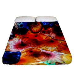 Ornament Color Vivid Pattern Art Fitted Sheet (king Size) by Nexatart