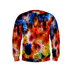 Ornament Color Vivid Pattern Art Kids  Sweatshirt