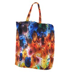 Ornament Color Vivid Pattern Art Giant Grocery Tote