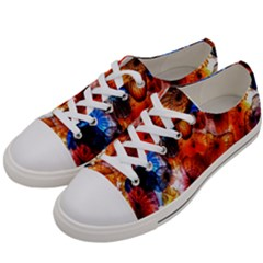 Ornament Color Vivid Pattern Art Women s Low Top Canvas Sneakers by Nexatart