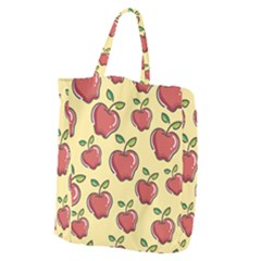 Seamless Pattern Healthy Fruit Giant Grocery Tote
