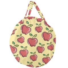 Seamless Pattern Healthy Fruit Giant Round Zipper Tote