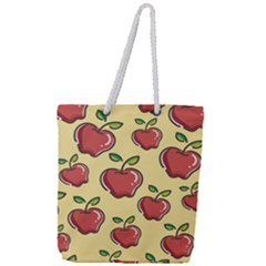 Seamless Pattern Healthy Fruit Full Print Rope Handle Tote (large)