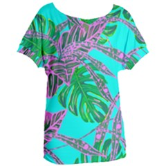 Painting Oil Leaves Nature Reason Women s Oversized Tee by Nexatart