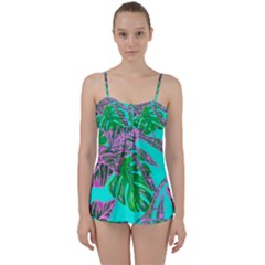 Painting Oil Leaves Nature Reason Babydoll Tankini Set by Nexatart