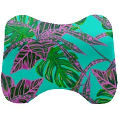 Painting Oil Leaves Nature Reason Head Support Cushion by Nexatart