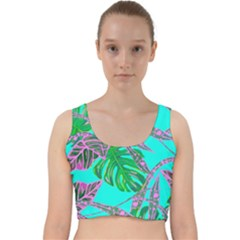 Painting Oil Leaves Nature Reason Velvet Racer Back Crop Top