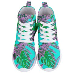 Painting Oil Leaves Nature Reason Women s Lightweight High Top Sneakers