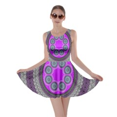 Round Pattern Ethnic Design Skater Dress