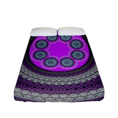 Round Pattern Ethnic Design Fitted Sheet (full/ Double Size) by Nexatart