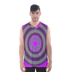 Round Pattern Ethnic Design Men s Basketball Tank Top by Nexatart