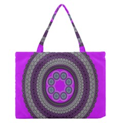 Round Pattern Ethnic Design Zipper Medium Tote Bag by Nexatart