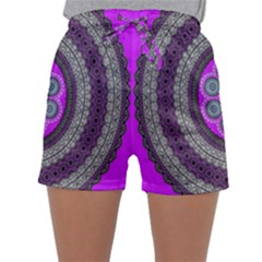 Round Pattern Ethnic Design Sleepwear Shorts