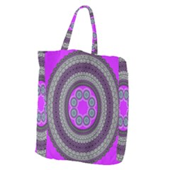 Round Pattern Ethnic Design Giant Grocery Tote