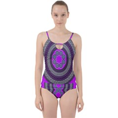 Round Pattern Ethnic Design Cut Out Top Tankini Set