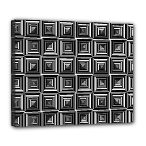 Pattern Op Art Black White Grey Deluxe Canvas 24  X 20   by Nexatart