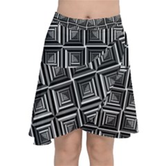 Pattern Op Art Black White Grey Chiffon Wrap by Nexatart