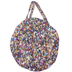 Pattern Abstract Decoration Art Giant Round Zipper Tote