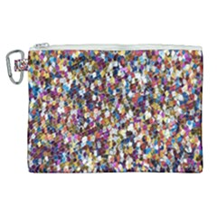Pattern Abstract Decoration Art Canvas Cosmetic Bag (xl) by Nexatart