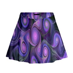 Abstract Pattern Fractal Wallpaper Mini Flare Skirt