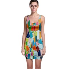 Mosaic Tiles Pattern Texture Bodycon Dress by Nexatart