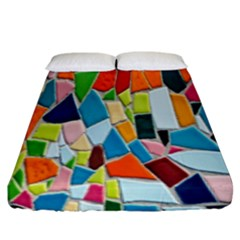 Mosaic Tiles Pattern Texture Fitted Sheet (king Size)