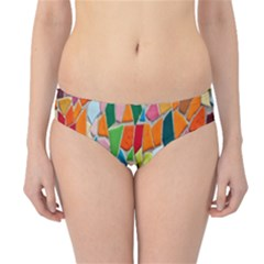 Mosaic Tiles Pattern Texture Hipster Bikini Bottoms