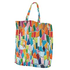 Mosaic Tiles Pattern Texture Giant Grocery Tote