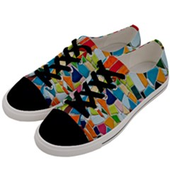 Mosaic Tiles Pattern Texture Men s Low Top Canvas Sneakers by Nexatart