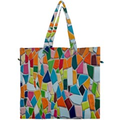 Mosaic Tiles Pattern Texture Canvas Travel Bag by Nexatart