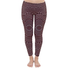 Design Pattern Abstract Classic Winter Leggings