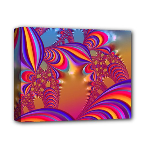 Amazing Fractal 5182b Deluxe Canvas 14  X 11  by MoreColorsinLife