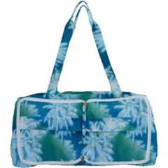 Palm Trees Tropical Beach Coastal Summer Blue Green Multi Function Bag	 by CrypticFragmentsColors