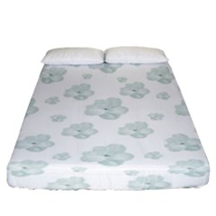 Pastel Floral Motif Pattern Fitted Sheet (king Size) by dflcprints