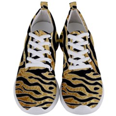 Golden Vector Embossed Golden Black Zebra Stripes Men s Lightweight Sports Shoes