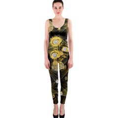 Decorative Icons Original Gold And Diamonds Creative Design By Kiekie Strickland One Piece Catsuit