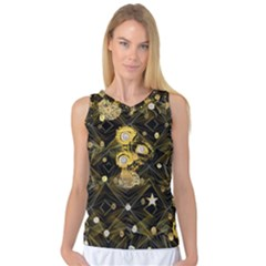 Decorative Icons Original Gold And Diamonds Creative Design By Kiekie Strickland Women s Basketball Tank Top