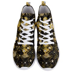 Decorative Icons Original Gold And Diamonds Creative Design By Kiekie Strickland Men s Lightweight High Top Sneakers by flipstylezdes