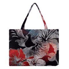 Beautiful Hibiscus Flower Design  Medium Tote Bag by flipstylezdes
