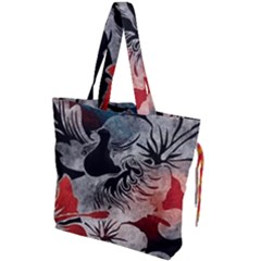Beautiful Hibiscus Flower Design  Drawstring Tote Bag by flipstylezdes