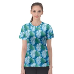Palm Trees Tropical Beach Coastal Summer Style Small Print Women s Sport Mesh Tee by CrypticFragmentsColors