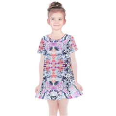 Elegant Japanese Inspired Floral Pattern  Kids  Simple Cotton Dress