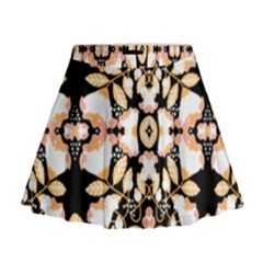 Beautiful Peach Flowers Background By Kiekie Strickland Mini Flare Skirt