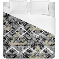 Retro Black And White Gold Design By Kiekiestrickland Duvet Cover (king Size)