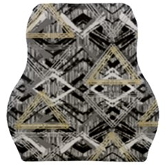 Retro Black And White Gold Design By Kiekiestrickland Car Seat Velour Cushion