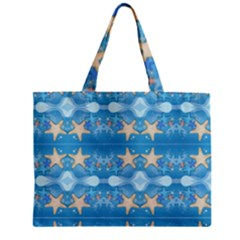 Adorably Cute Beach Party Starfish Design Zipper Mini Tote Bag by flipstylezdes