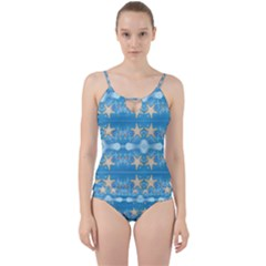 Adorably Cute Beach Party Starfish Design Cut Out Top Tankini Set