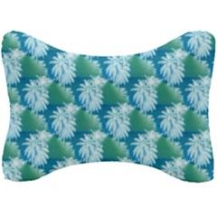 Palm Trees Tropical Beach Coastal Summer Style Small Print Seat Head Rest Cushion by CrypticFragmentsColors