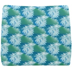 Palm Trees Tropical Beach Coastal Summer Style Small Print Seat Cushion by CrypticFragmentsColors