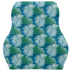 Palm Trees Tropical Beach Coastal Summer Style Small Print Car Seat Velour Cushion  by CrypticFragmentsColors